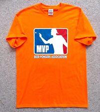 Med Mvp Beer Pong Association T-Shirt Neon-Orange Major-League-Baseball-Log o Mlb