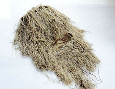 Breathable Grass Ghillie Quiet Outdoor Sand Colour Camouflage Head Hood Veil Hat