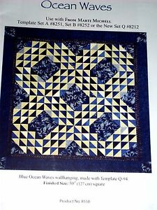 """From Marti & Me OCEAN WAVES 50"""" Wall Hanging Quilt Pattern"""