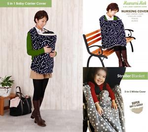 Kurumi Ket 5in1 Baby Carrier Cover/ Stroller Cover/Nursing Cover/Pram Blanket