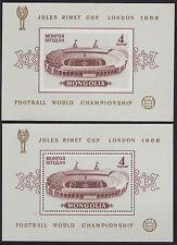 MONGOLIE BLOC N°11/11a** Bf Dentelé & ND  Football? 1966 MONGOLIA SHEETS MNH