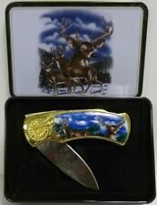 White Tail Deer Knife in Gift Tin Super Gift ON SALE