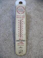 Vtg Geo. C. Christopher & Son Iron Works Thermometer Wichita, Ks. Steel Foundry