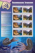 More details for tajikistan paleontology stamps 2020 mnh fossils ammonites mountains 8v m/s iv