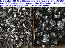 Collier de Serrage inox 18/8 Taille 57x76mm Lot de 5 Bovenbouw, dekuitrusting Brug