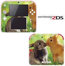Vinyl Skin Decal Cover for Nintendo 2DS - Honey Bunny Kisses
