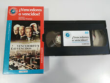 ¿ VENCEDORES O VENCIDOS ? STANLEY KRAMER VHS CAJA CARTON CASTELLANO EL MUNDO