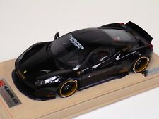 1/18 Ferrari 458 Liberty Walk LB Performance Gloss Black Gold decals  BBR / MR A