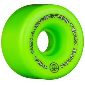 RollerBones Team Logo 57mm 98a GREEN 8-Pack NEW