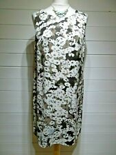 Monsoon Dress ~ Size 14 ~ Brown Cream ~ Sleeveless ~ Casual, Party ~ 2449