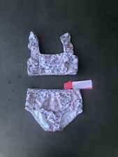 BNWT Seafolly Girls Summer Wallflower Mini Tube Bikini Size 6 RRP$59.95
