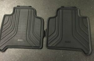 BMW Genuine Rear All Weather Rubber Floor Mats Black F46 51472287863