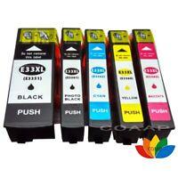 5 Pack Compatible EPSON 33XL cartouche D'encre Pour Expression Premium XP 530
