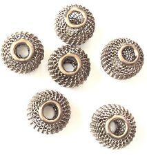 9 Large hole Chocolate Brown Tone Mesh Wire Beads 16x13mm Jewelry Supplies