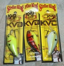 Lot Of 3 Brand New Strike King KVD 1.5 Crankbait Fishing Lures