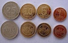 ZIMBABWE 2014 SERIE 4 MONETE 25-10-5-1 BOND COIN FDC UNC