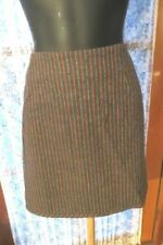 Polyester Dry-clean Only Striped Regular Size Skirts for Women