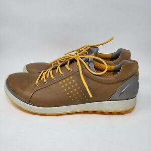 Ecco Natural Motion Men Size 44 / US 10 1/2 Tan Leather Golf Shoes