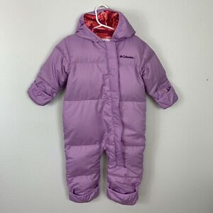 Columbia Down Snowsuit Baby Bunting Infant Toddler Size 18 24 Girl's Winter Snow