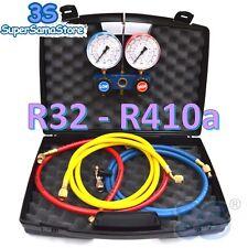 3S GRUPPO MANOMETRICO 2 VIE per GAS REFRIGERANTE R32 R410A con FRUSTE RUBINETTO