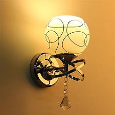 Home Wall LED Lamp Modern Glass Light Living Room Hallway Bedroom Bedside Lobby