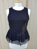 Gorgeous Ladies Black Lace Top From Jack Wills Size 10 side zip boho festival