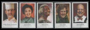 US Scott # 4922-4926 Celebrity Chef set (5 Used stamps off paper)
