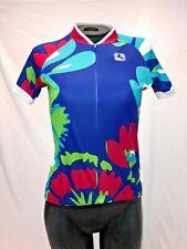 Giordana Women's Cycling Jersey in Blue Aloha Hawaiian Print - Size Small