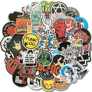 100 piezas de coche punk retro metal heavy rock roll vintage music band stickers