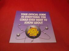 Nintendo Power Super Power Club Official Guide Foldable Promo Poster