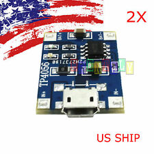 2Pcs Tp4056 5V Micro Usb Lithium Battery Charging Board Charger Module Arduino