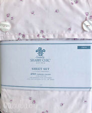 Rachel Ashwell Simply Shabby Chic Pink Ditsy Rose Rosebud on Pink Twin Sheet Set