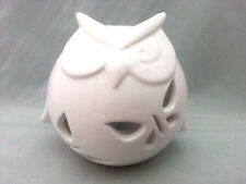 White Affair Ceramic Owl Tea Light T-Light Candle Holder
