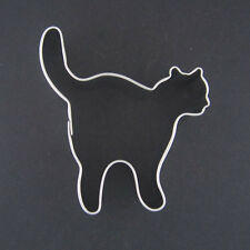 """HALLOWEEN CAT 3"""" METAL COOKIE CUTTER FONDANT STENCIL SPOOKY PARTY FAVOR SCARY"""