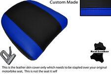 Negro Y Azul Real Personalizado Para Bmw K 1200 Lt 99-09 Respaldo Cuero Funda De Asiento