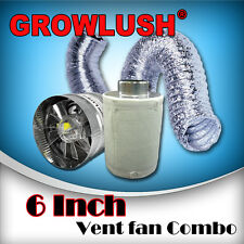 "6"" inch Hydroponics Grow Light Tent Ventilation Kit Fan Carbon Filter Ducting"