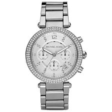 MICHAEL KORS MK5353 SILVER LADIES WOMEN'S PARKER WATCH 2 YRS WARRANTY