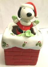 Schmid Musical Collectibles Snoopy 1985 Up On The House Top.