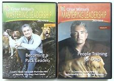 CESAR MILLAN'S Mastering Leadership Series Volume 1 and 2 DVD Dog Training Lot