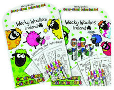 Wacky Woollies Coloring Book & Crayons Set Sheep Design Perfect for Ages 3+