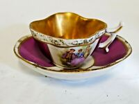 Vintage Dresden miniature tea  cup & saucer