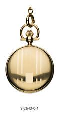 Reloj de bolsillo chapado en oro con tapa y cadena