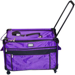 """Tutto-TUTTO Machine On Wheels Case-27""""X16.25""""X14"""" Purple"""