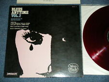 va Japan RED Wax NM LP BLUES ANYTIME VOL.2 JEFF BECK,JIMMY PAGE,ERIC CLAPTON,+