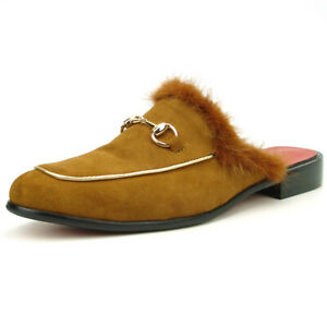 FI-7187- Tan Suede with Gold Accent Fiesso by Aurelio Garcia Mens Sandals