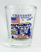 CHEYENNE WYOMING GREAT AMERICAN CITIES COLLECTION SHOT GLASS SHOTGLASS