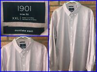 Nordstrom 1901 Montlake Wash Pink Btn Down Oxford Dress Shirt Mens XXL Trim Fit