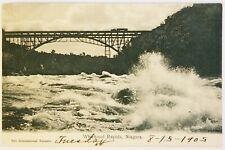 Whirlpool Rapids Niagara Falls International Bazaars New York Postcard antique