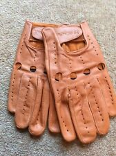 Leather Full Finger Tan Cycling Gloves, XL, L'eroica