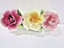 ROSES ON TREE TRUNK ENGLISH BONE CHINA STAFFORDSHIRE ENGLAND THORLEY FLOWER BOX